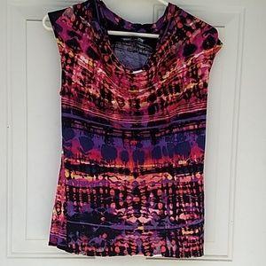 Multi colored blouse size small